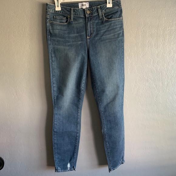 PAIGE Denim - Paige Verdugo ankle skinny light wash jeans sz. 30